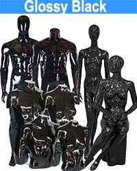 Glossy Black Mannequin